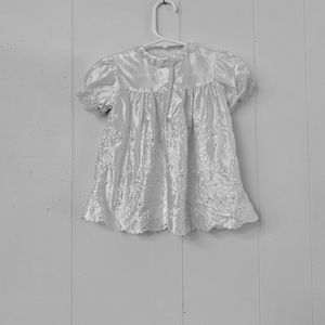 Dresses - Infant dress with lace edging